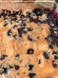 Vegan Homemade Blueberry Dump Cake