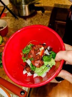 Vegan Cuban Blackbean over Cilantro Lime Rice