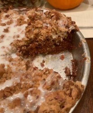 Pecan Cinnamon Streusel Coffee Cake