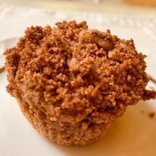 Peach Cobbler Breakfast Muffin