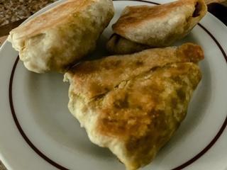 Vegan Baked Samosas w/Tahini Sauce