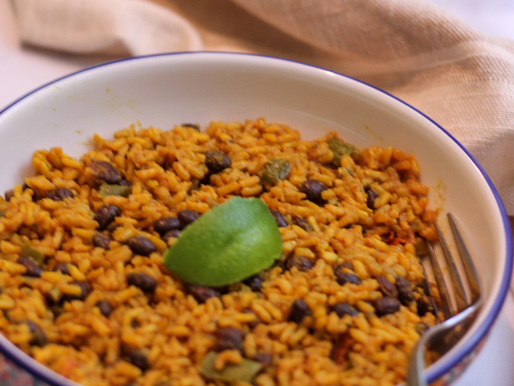 Yellow rice with blackbeans