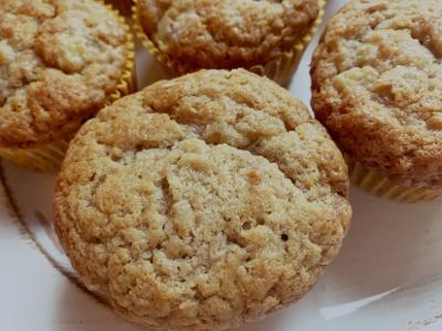 Vegan Cream Cheese Banana Muffins