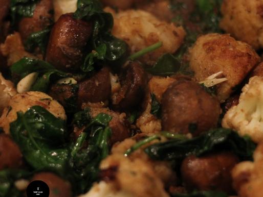 Vegan Garlic Mushroom Cauliflower Skillet