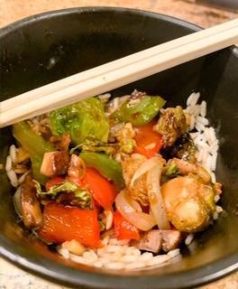 Vegan Kung Pao w/Roasted Veggies