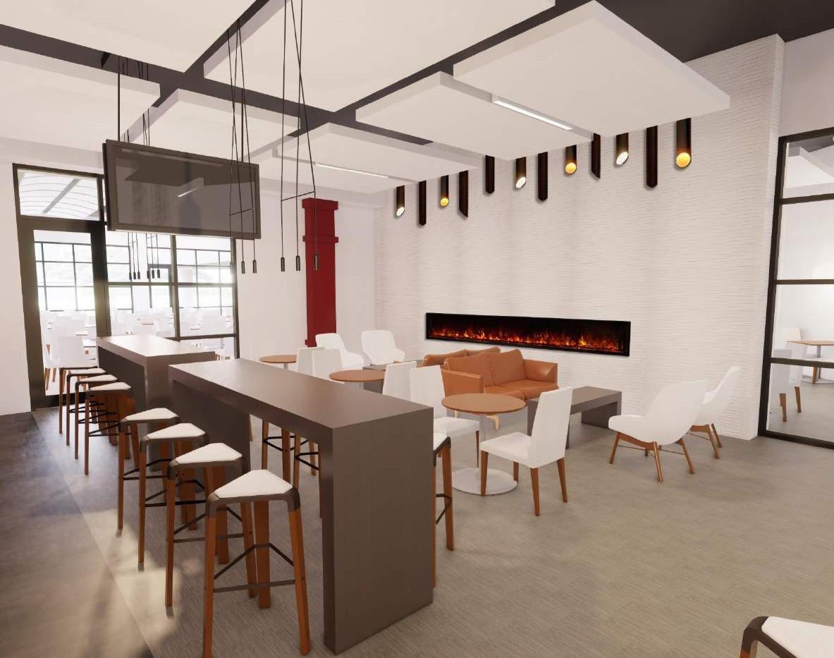 Oasis Lounge – Fireplace