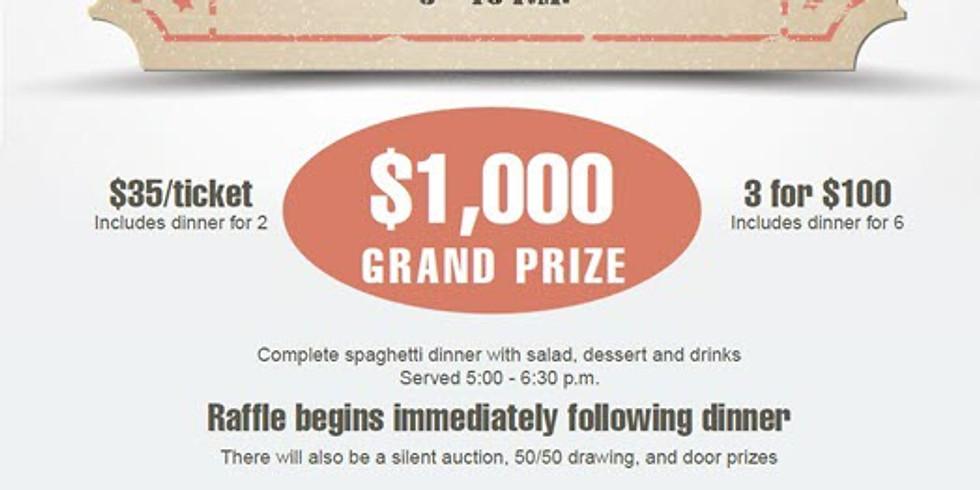 Reverse Raffle $1,000 grand prize