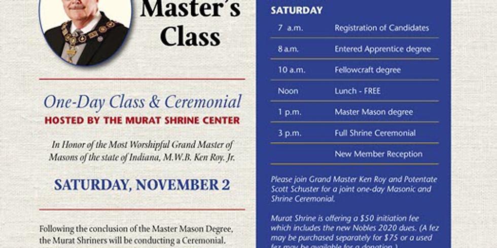 Grand Master's Class - Blue Lodge + Shrine