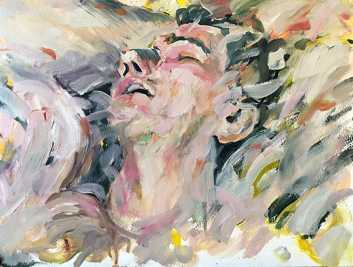 oil on canvas, original, gestural, on budget, figurative, semiabstract, statement, painting