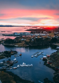 Sunset Hamarvik Norway