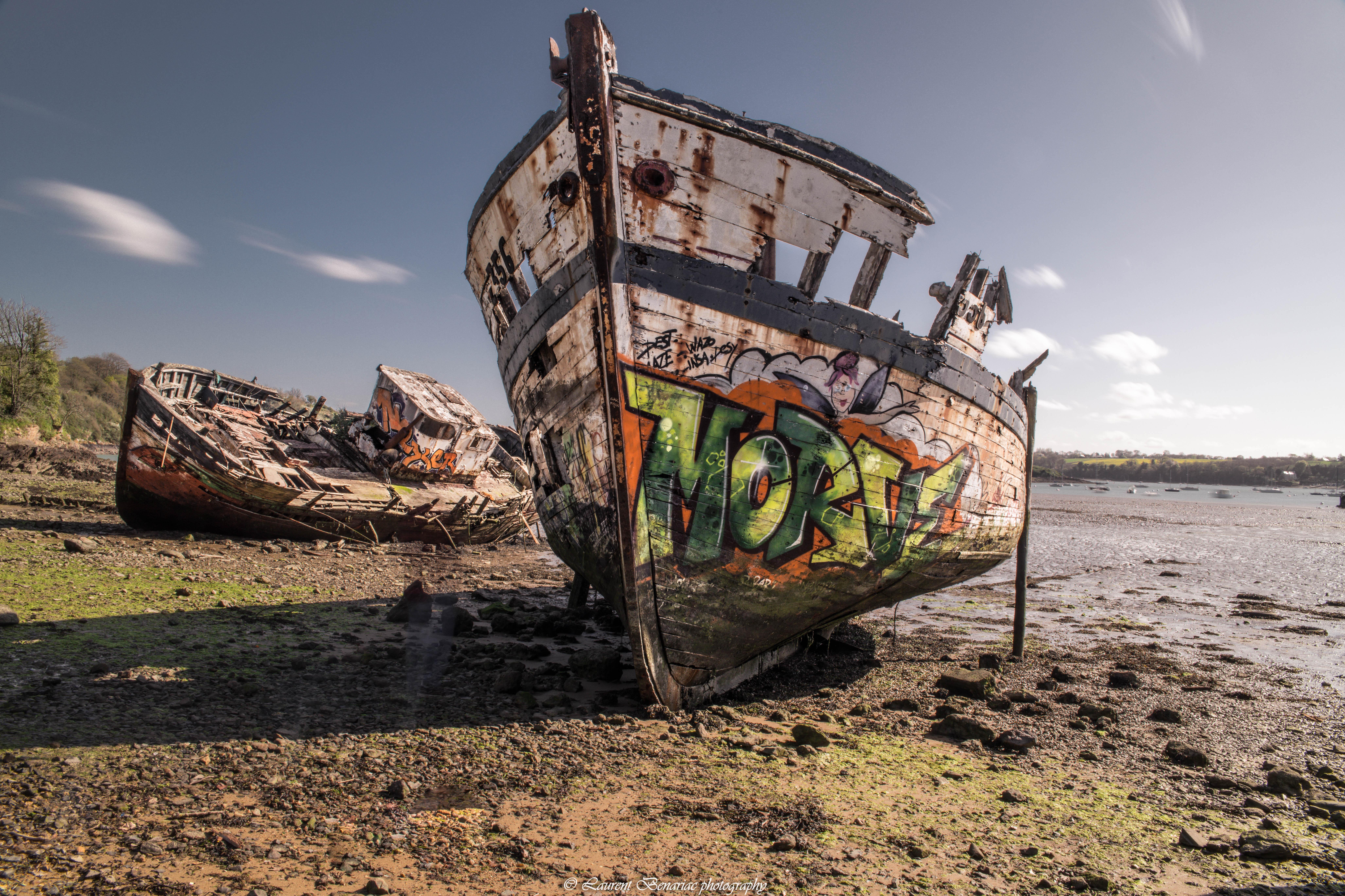 carcasse de bateau en Bretagne