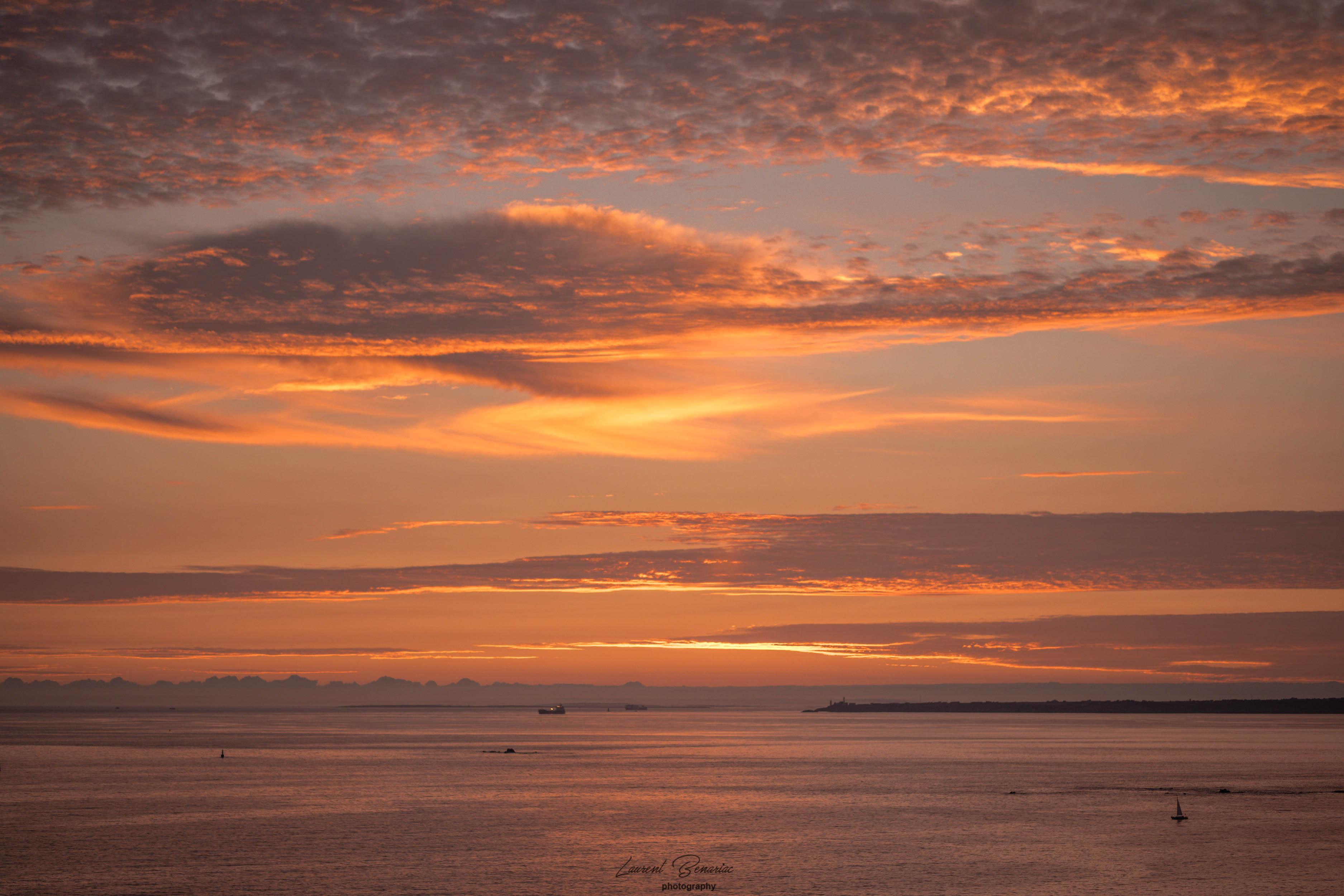 coucher de soleil sur Pen-hir