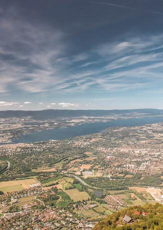 vue sur le Lac Lèman depuis le Mont Salè