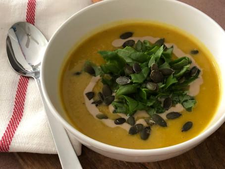 Fridge-bits hearty lentil soup
