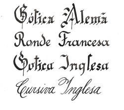 fontes caligraficas
