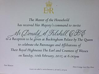 God Save the Queen - Convite para evento da Realeza Britânica