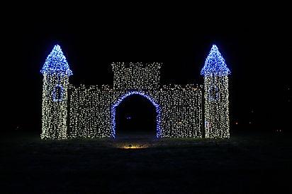 Castle of Christmas lights