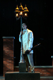 Although the choreography was purposely different than the film, the lamppost moment had to be used.