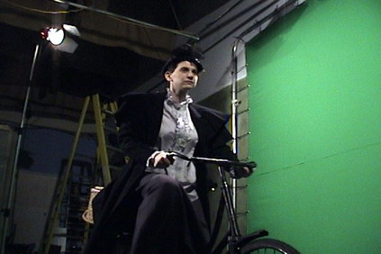 Greenscreen filming for the witch transformation