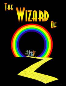Wizard of Oz poster  artwork by Carmen Gillespie