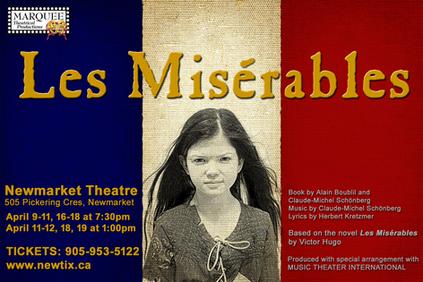 Les Misérables poster  Cynthia Galant as Little Cosette