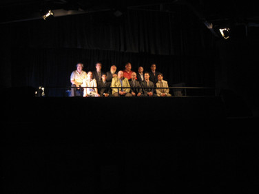 The 12 jurors listening the the judges instructions at the top of the show.