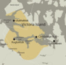Inuinnait homeland map with extended bou