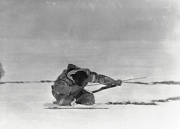 Kringaudlik of Bathurst Inlet shooting a