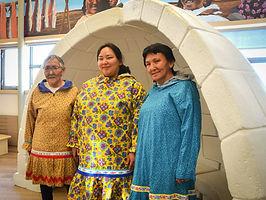 Ed - Left to Right. Anne Wingnek, Jennifer Ullulaq and Eileen Okhina.jpg