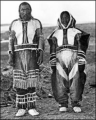 Copper Inuit Clothing, Front View (Diamo