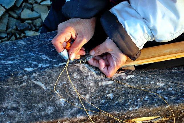 stitching qajaq seal hide cover_edited-1