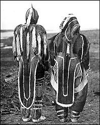 Copper Inuit Clothing, Back View (Diamon