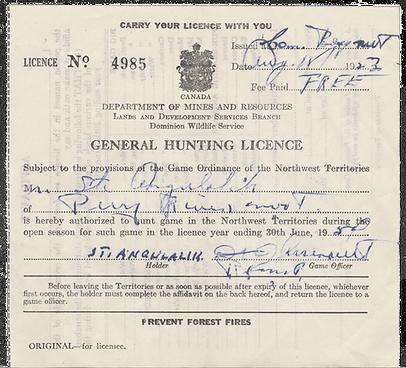 Angulalik's hunting licence N-1986-002-1