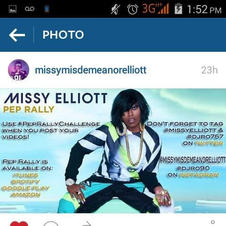 IamDjRo name on flyer on Missy Elliott page