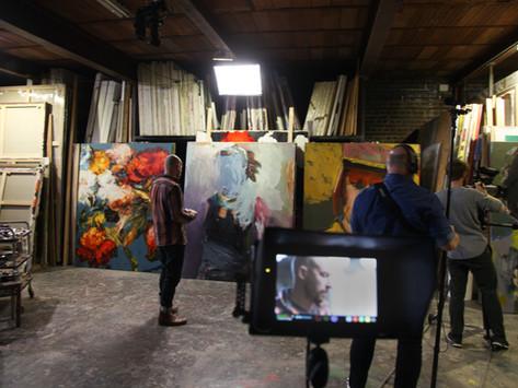 En tournage avec Gael Davrinche