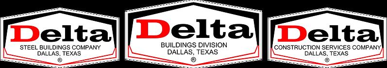 Delta Steel Buildings Company Triple Logo