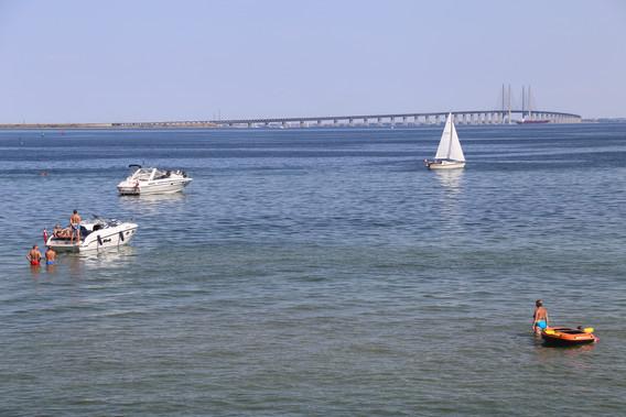 Udsigt til Øresundsbroen fra Dragør Fort
