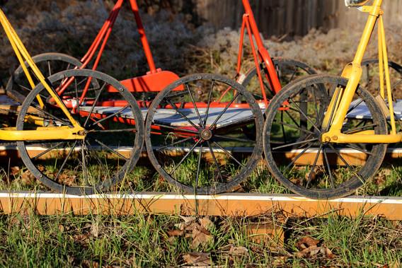 Skinnecykler på Amagerbanen