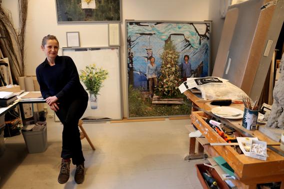 Camilla Berner i sit studie
