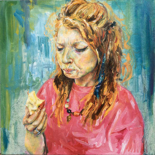 """Beth Eating An Apple"""