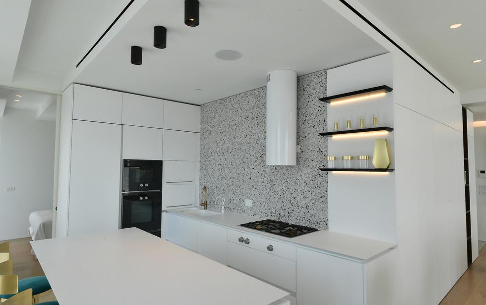 Meier Tower, kitchen