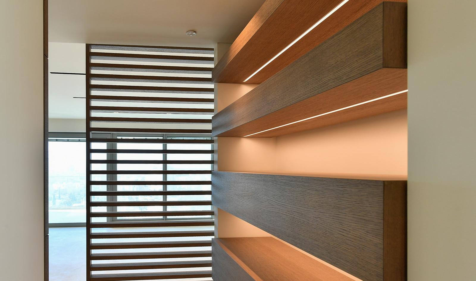 Park tsameret, shelves