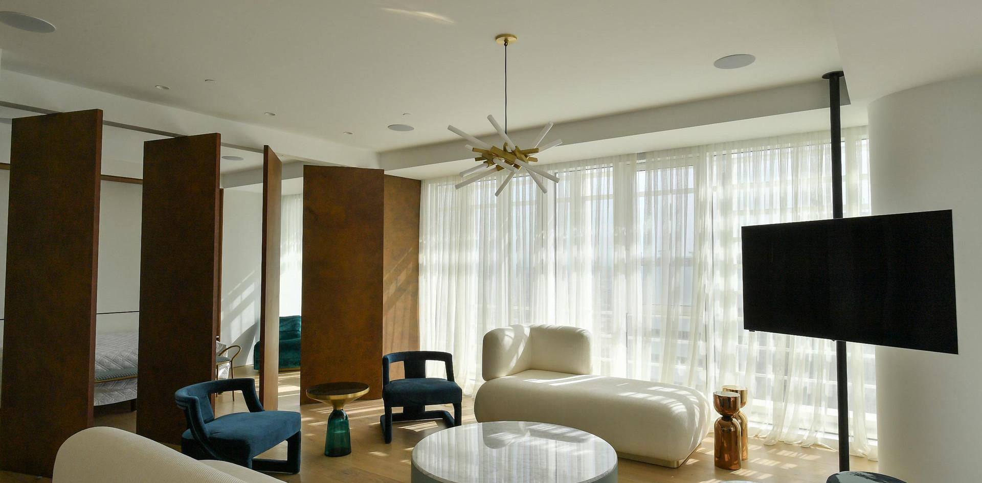 Meier Tower, living room