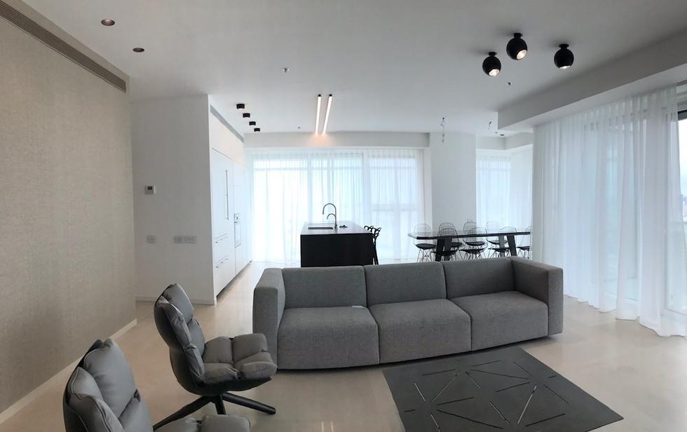 Rothschild blvd, living room