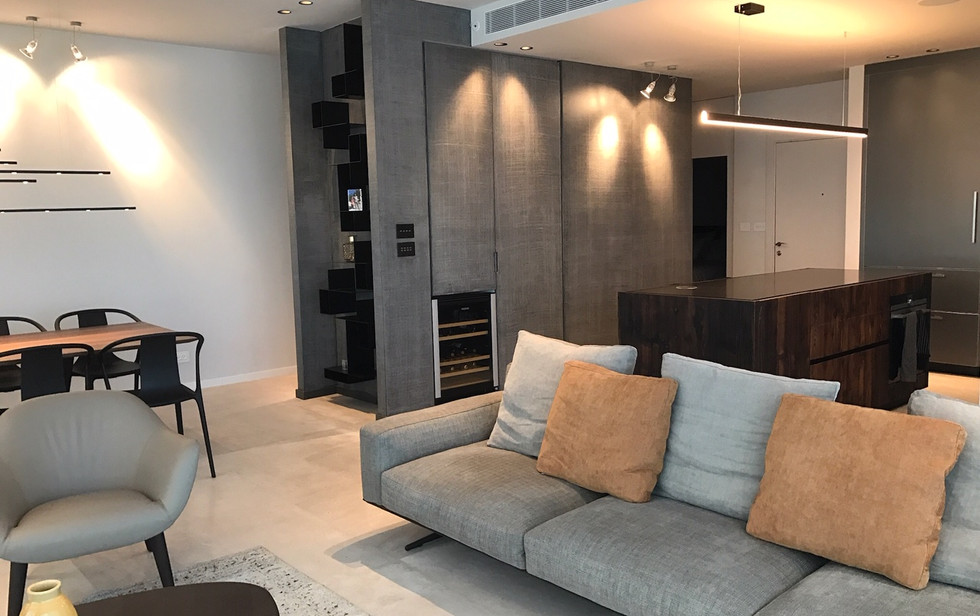 One Lustigman, living room