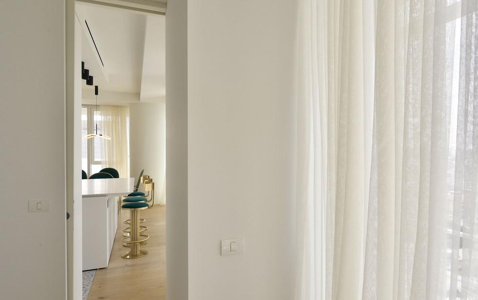 Meier Tower, kitchen, bedroom view