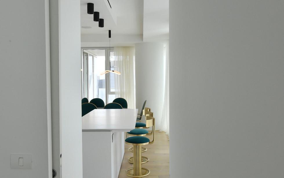 Meier Tower, kitchen hallway view