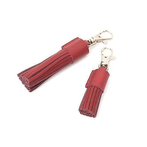 LEATHER TASSEL CLIPS