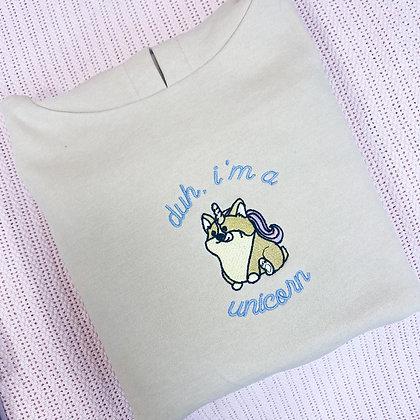 Duh, i'm a unicorn - Cropped hoodie