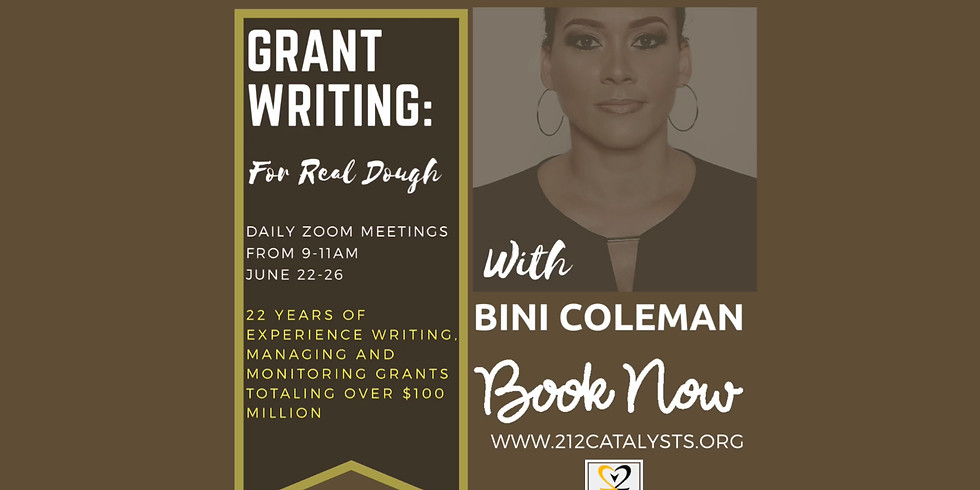 Grant Writing: For Real Dough